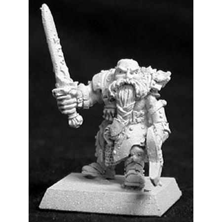 Reaper Miniatures Durgam Deepmug, Dwarf Hero #14019 Dwarves Unpainted D&D Mini (Hero Box Miniatures)
