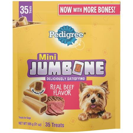 PEDIGREE JUMBONE Real Beef Flavor Mini Dog Treats - 21 Ounces (35 Treats) - Making Healthy Halloween Treats