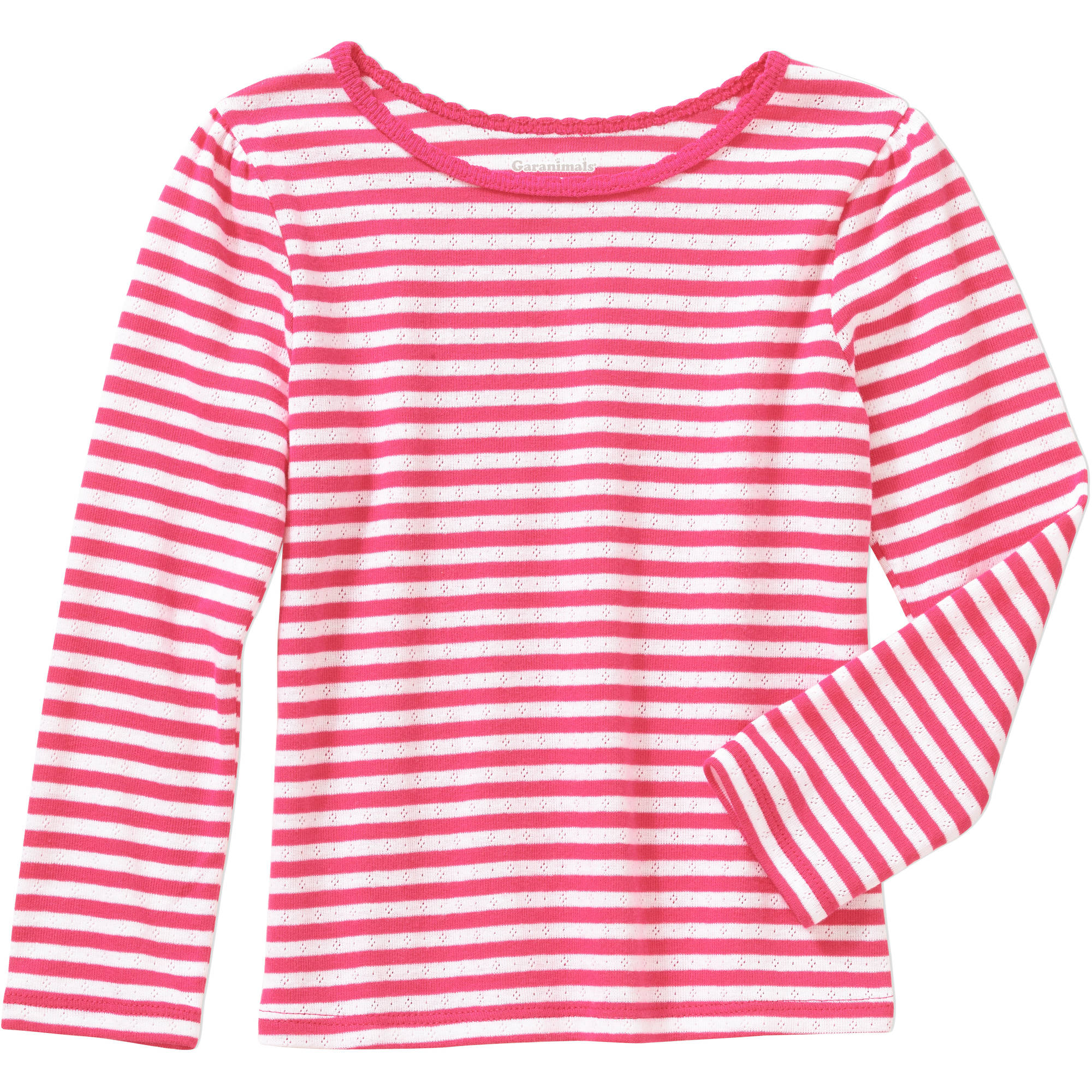Garanimals Baby Toddler Girl Long Sleeve Pointelle Stripe Tee