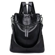 Women Leather Backpack Rucksack Handbag Crossbody Shoulder School Travel Bag