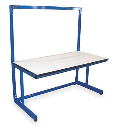 PRO-LINE B6030SSC Ergo Basics Workbench, Blu, 60Lx30Wx65HIn.