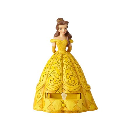 Jim Shore Disney 6000963 Belle With Chip Charm 2018 ()