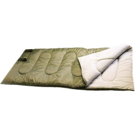 Texsport Caprock 40-Degree Adult Sleeping Bag, Olive Drab