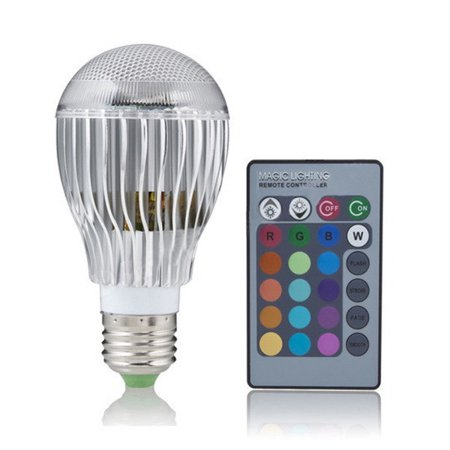 T-Power (9W 9Watt E27) 16 Colors LED Magic Spot Light Bulb (for Holiday Decorations Christmas Xmas NEW YEAR Decorate Lighting Spotlight Halloween strobe, Dimmer glow & flash) with Wireless Remote cont - Strobe Christmas Lights