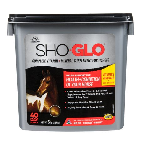 Manna Pro Sho-Glo for Horses, 5 lbs. (Horse Health Apple)