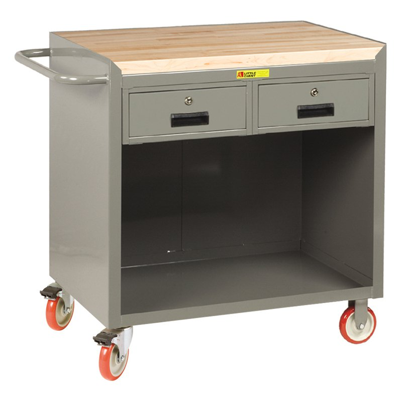 Little Giant Mobile Bench Cabinet with Locking Storage Drawers