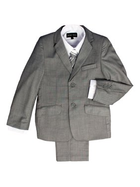 Avery Hill Boys Formal 5 Piece Suit With Shirt, Vest, and Tie (Toddler, Little & Big Boys)