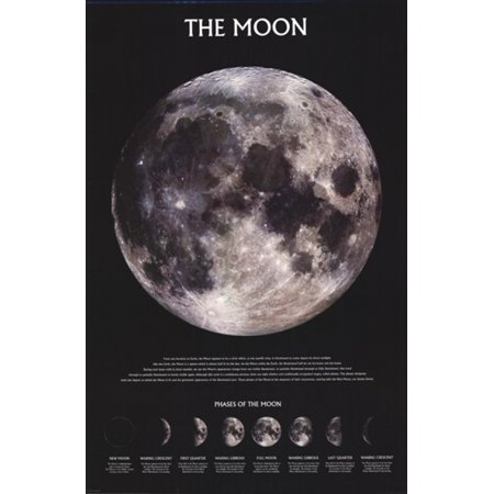 Outer Space Moon (The Moon - Outer Space Poster Poster Print )