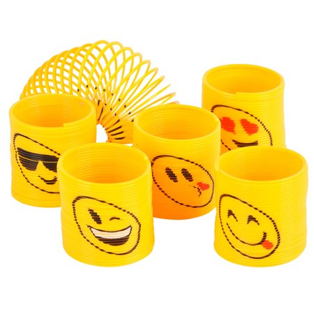 Emoji Springs (12 Count) - Party Supplies - Emoji Themed Party