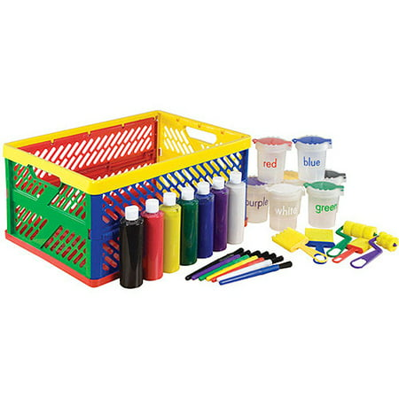27 piece paint set in collapsible crate