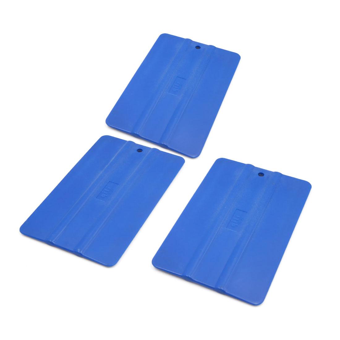 3pcs Blue Car Vinyl Film Tinting Tools Window Scraper Squeegee Application