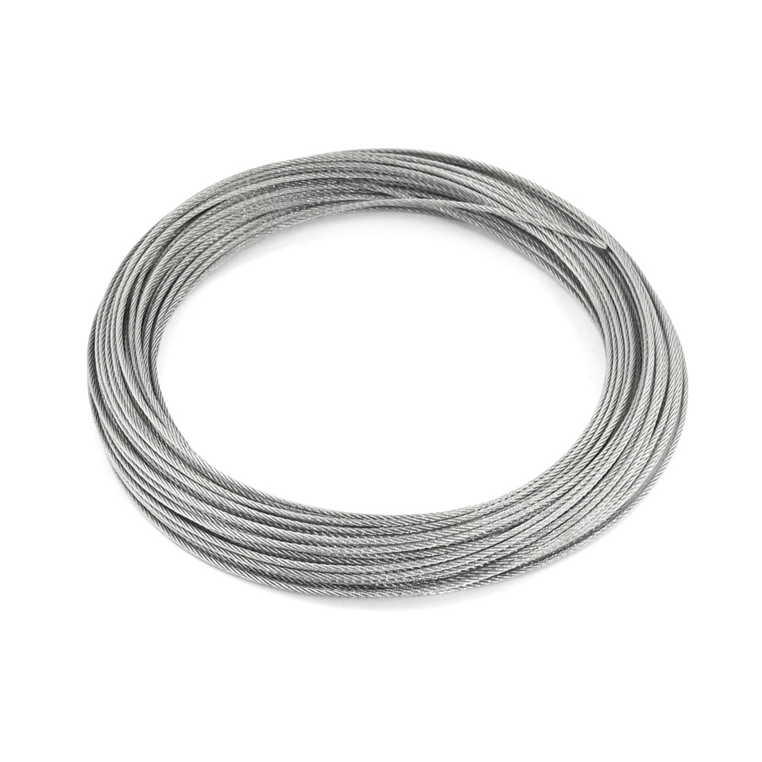 1.5mm Dia 7x7 25M Length Stainless Steel Wire Rope Cable for Hoisting
