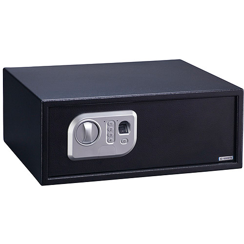 Stack-On Extra Wide Biometric Personal Safe with Biometric Lock PS-7-B Black
