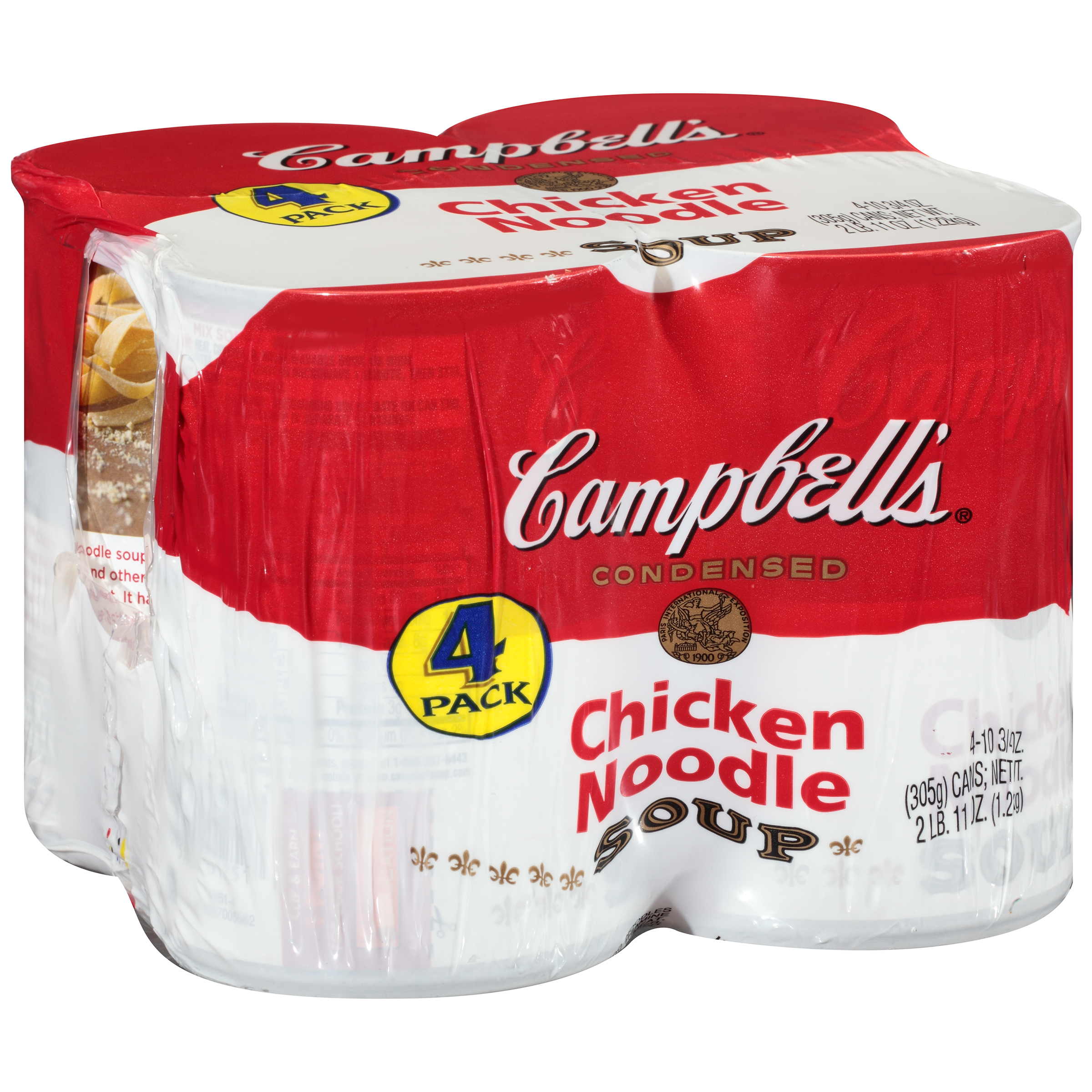 Campbell's Chicken Noodle Soup 10.75oz 4 pack