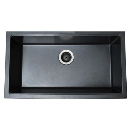 Ukinox Single Basin Granite Composite Undermount Kitchen Sink ...