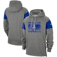 New England Patriots Nike Fan Gear Historic Pullover Hoodie - Heathered Gray