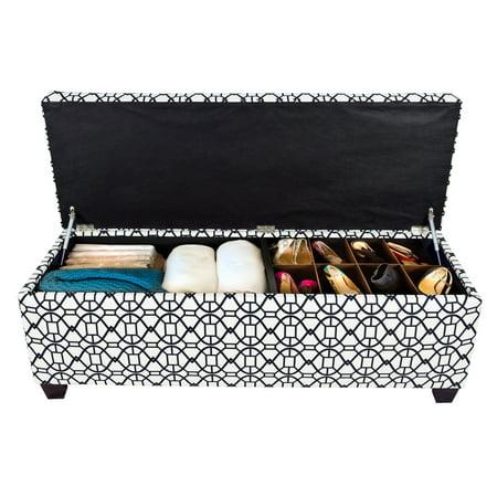 MJL Furniture Designs Sole Secret Duo Noah Storage Ottoman Bench ()