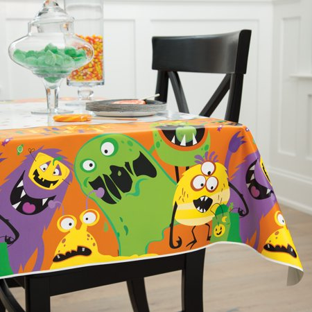 Silly Halloween Food Names (Silly Monsters Halloween Plastic Party Tablecloth, 84 x)