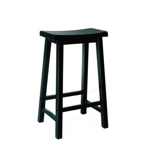 """Powell """"Antique Black"""" with Sand Through Terra Cotta Bar Stool, 29"""" Seat Height by Powell"""