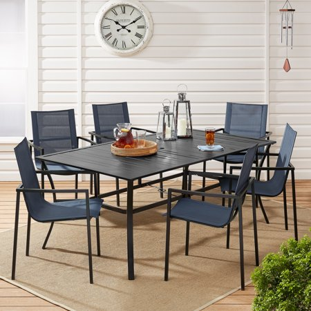 Mainstays Calimesa 7-Piece Outdoor Patio Table and Chairs Dining Set ()
