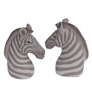 Donny Osmond Home, Zebra Head Bookends, Set of 2