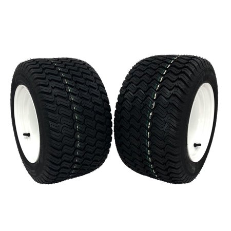 (2) Walker Wheel Assemblies 18x10.50-10 White Replaces 8075 Fits Models B C D (Component Assembly Model)