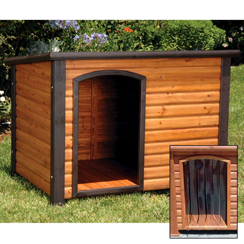 Precision Outback Log Cabin Dog House with FREE Door