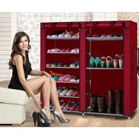 Deals on Ktaxon Portable Shoe Rack Boot Shelf Shelves Storage w/Cover