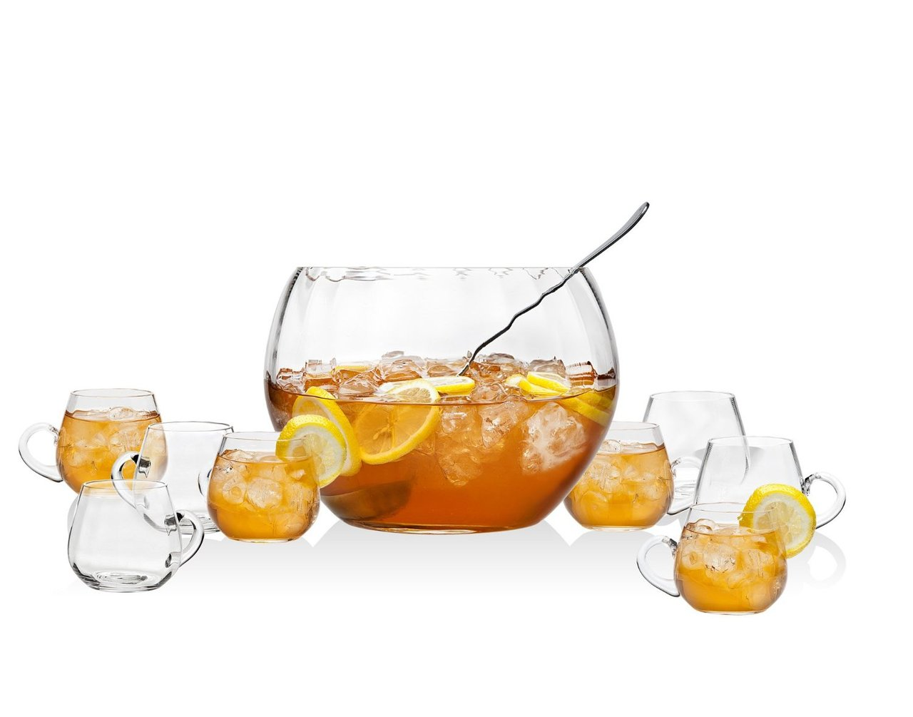 10-piece Crystal Chill Punch   Sangria Bowl Set by GSA