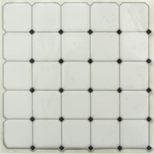 4pk Sticktiles Black/White - RoomMates