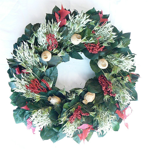 Dried Flowers and Wreaths LLC Dried Holiday Oats Wreath