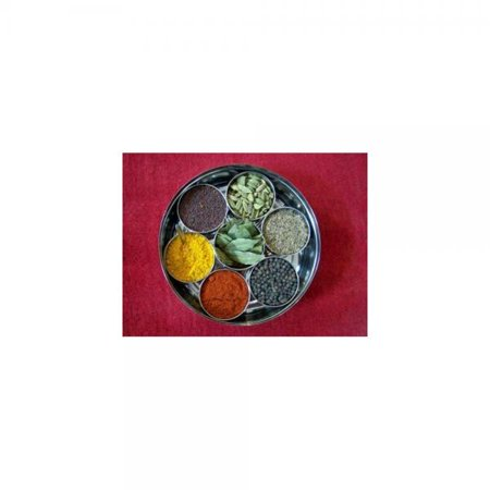 Tmvel Masala Dabba Spice Container Box with Clear Lid, Stainless