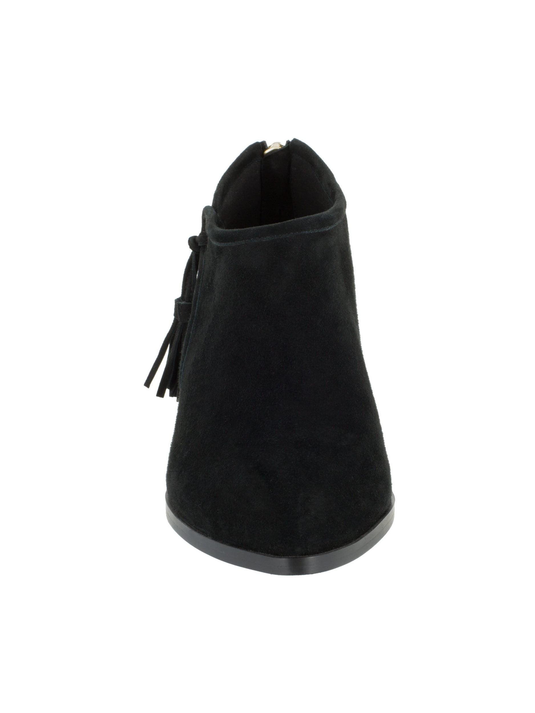 bella vita  women's eli black kidsuede booties