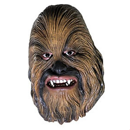 Adult Chewbacca Mask - Star Wars Chewbacca 3/4 Vinyl Mask Halloween Costume Accessory