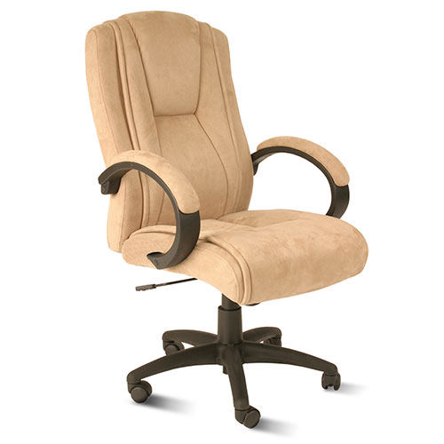 Comfort Products 60-0971 Padded Microfiber Fabric Executive Chair, Beige