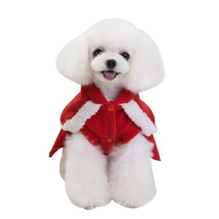 CARLTON Christmas Decoration Pet Dog Cat Winter Warm Coat Costume - Carlton's Halloween Nightmare