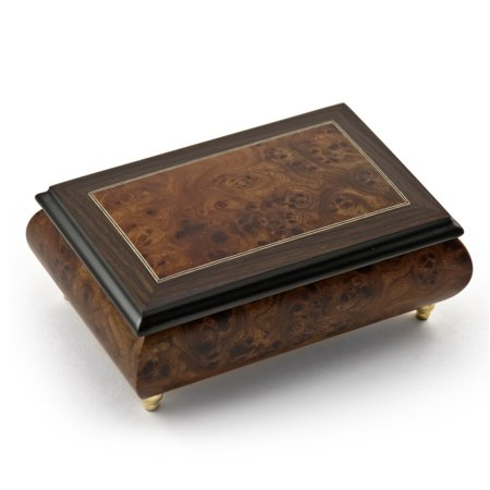 Alluring 22 Note Neutral Tone Modern Music Box with Rosewood Frame - Traumerei (Robert Alexander