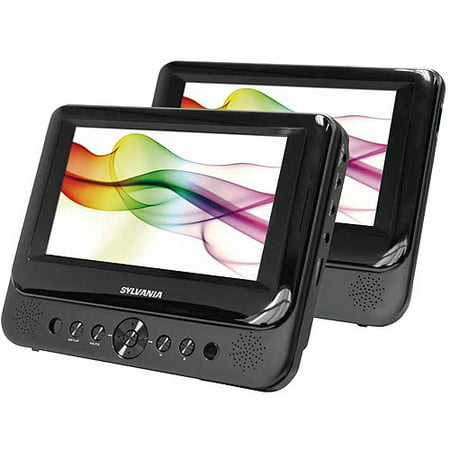 sylvania 7 dual screen portable dvd player sdvd8739. Black Bedroom Furniture Sets. Home Design Ideas