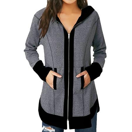 711ONLINESTORE Women Zip Up Front Pocket Hoodie Jacket (Pink Ladies And T Birds Jackets)