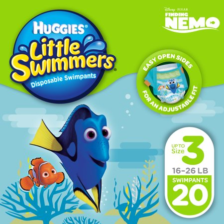 HUGGIES Little Swimmers Disposable Swim Diapers, Size Small, 20 (Huggies Little Movers Diaper Pants Size 4)