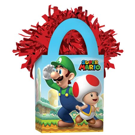 Super Mario Mini Tote Balloon Weight - Party Supplies