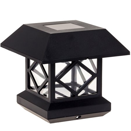 GreenLighting Outdoor Garden Patio  Summit Solar Powered Post Cap Light