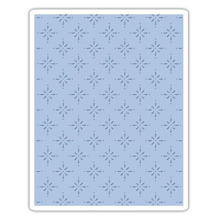 661611 Texture Fades Embossing Folder, Star Bright by Tim Holtz, Emboss in such a way that select areas of the image appear perfectly faded.., By Sizzix
