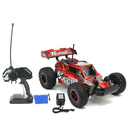 High Speed Racing Slayer Remote Control RC Toy Red Buggy Car w/ Working Suspension, Spring Shock Absorbers