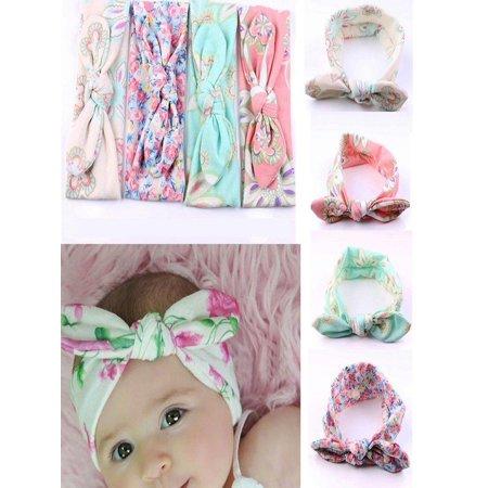 - Babula Baby Girls Bow Flower Accessories 4 PCS Headband