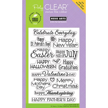Hero Arts Clear Stamps, 4