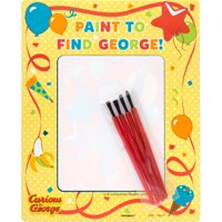 Curious George Magic Watercolor Paint Cards with Brushes, 4ct