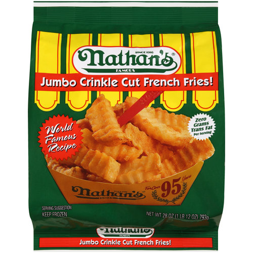 Nathan's Famous Jumbo Crinkle Cut French Fries, 28 oz