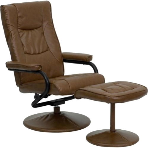 Flash Furniture Contemporary Leather Recliner and Ottoman, Multiple Colors