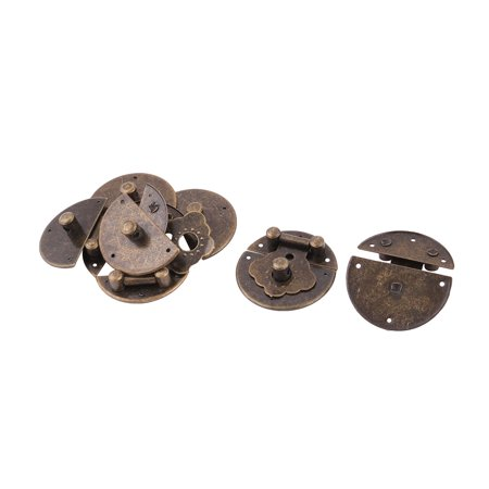 Home Metal Jewelry Case Box Drawer Security Padlock Latch Lock Bronze Tone 6 Set - image 1 of 1